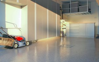 garage with wall storage